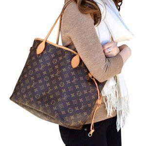 Auth Louis Vuitton Neverfull Mm #3877L43B
